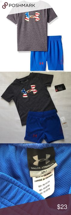 45f843c183a4 UNDER ARMOUR BABY BOYS SIZE 12M 2-PIECE SET Under Armour baby boys size 12
