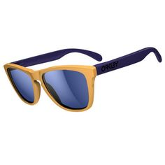 Oakley Frogskins Aquatique Sunglasses - Drop Off/Blue Iridium Lens - http://www.extremesupply.com/product/oakley-sunglasses-frogskins-aquatique-dropoffblue.html