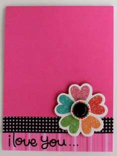 adapt for a layout - flower made of hearts, black & white + pink