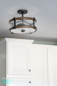 Inspirational Flush Mount Entry Light