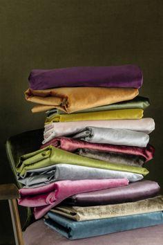 """Élitis """"Private"""" collection. Silky velvet for upholstery and curtain. #Elitis #Velvet #fabric"""