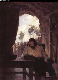 NC Wyeth And in the morning i took the bible and beginning at the new testament i began seriously to read it
