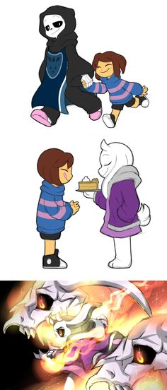 I really like hiw Tori and Sans swaped roles in this AU...But the cool part is that Tori has goat-like gaster blasters❤