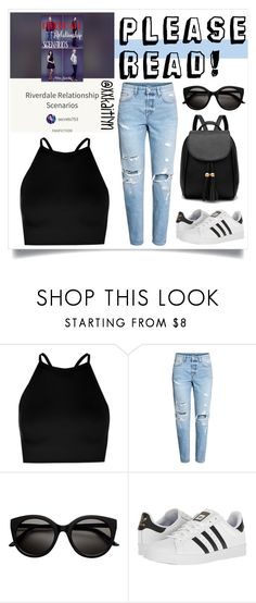 """Wattpad Story!"" by xxkaitlyn ❤ liked on Polyvore featuring Boohoo and adidas"