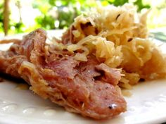 Crock Pot Country-Style Ribs and Sauerkraut; made this last night with a couple of tweaks and it was delicious!