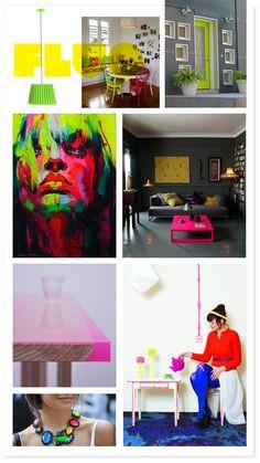 fluor, neon, pink, green, yellow, orange, colors