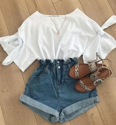 42 comfy street style looks that will make you look cool 27 Cute Casual Outfits, Cute Summer Outfits, Comfortable Outfits, Stylish Outfits, Fall Outfits, Outfit Summer, Casual Summer, Teen Beach Outfit, Teenage Outfits