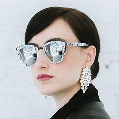 Statement Earrings,Clear White Swarovski Bridal Earrings,Swarovski Crystal Statement Earrings,Bridal Long Earrings,Crystal Big Earrings Petite Delights