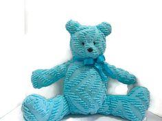 Handmade Vintage chenille teddy bear- Snuggles