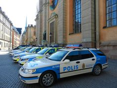 Saab 9-5 combi police car Stockholm Police Cars, Police Officer, Swedish Police, Rescue Vehicles, Emergency Vehicles, Law Enforcement, Motor Car, Stockholm, Cars And Motorcycles
