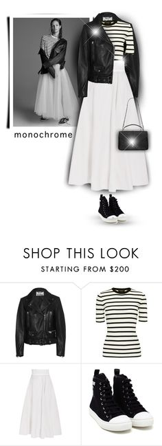 """Make It Monochrome"" by bliznec-anna ❤ liked on Polyvore featuring Acne Studios, Theory, Bottega Veneta, Moschino, Yves Saint Laurent and monochrome"