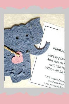 Gastgeschenke für die Baby Shower Party: Pflanzbarer Elefant
