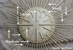 DIY sunburst mirror with dowelsYou can find Sunburst mirror and more on our website.DIY sunburst mirror with dowels