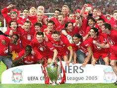 The Miracle in Istanbul, the champions league final between a. Milan and Liverpool f. was indeed, dramatic it rightfully earned the name. Read how Liverpool Champions League 2005, Liverpool Fc Champions League, Liverpool Uefa, Champions League Football, Liverpool Fans, Liverpool Football Club, Liverpool Players, Football Ticket, Best Football Team
