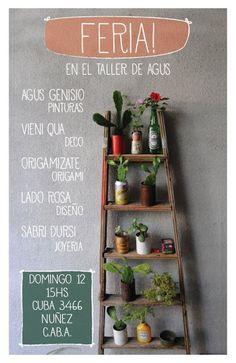 Garden. Escalera para pared de jrdin. Un giro en la mirada Poster invtación feria de diseño y deco (CABA)