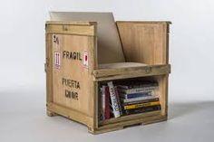 Risultati immagini per mobili con bobine di legno
