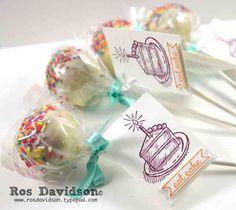 Cake pops #cakepops #stampinup #schoolbirthday #sketchedbirthday