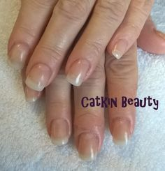 Gel extensions using natural tips and clear gel