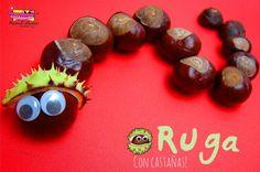 Oruga con castañas - Actividades para niños, manualidades fáciles y juegos creativos