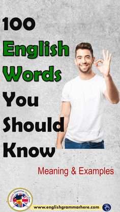100 vocabulary words with meaning and sentence - English Grammar Here English Grammar Book Pdf, English Vocabulary Words, English Phrases, Learn English Words, English Study, English Speaking Skills, English Lessons For Kids, English Writing Skills, English Language Learning