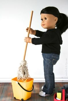Make doll sized cleaning supplies