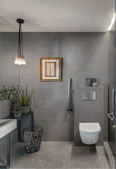 Chalk: Grey Tiles: pearl, dark, light and dove. Bad Inspiration, Bathroom Inspiration, Bathroom Wall, Bathroom Interior, Glazed Walls, Grey Tiles, Tiles Texture, Cuisines Design, Floor Design
