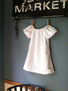 Organic Girls Nightgown with embroiderytoddler by MilliLeeOrganics