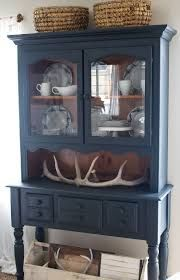 Vintage French Soul ~ Farmhouse style and painted furniture. Navy blue hutch and white dishes. Vintage French Soul ~ Farmhouse style and painted furniture. Navy blue hutch and white dishes. Refurbished Furniture, Farmhouse Furniture, Paint Furniture, Repurposed Furniture, Furniture Projects, Rustic Furniture, Furniture Makeover, Vintage Furniture, Cool Furniture