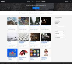 Behance UI - Free Sketch Template
