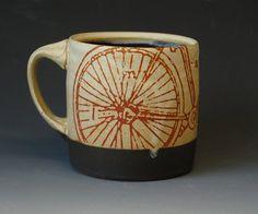 E6 Large Image Bicycle Mug by SnyderCeramics on Etsy