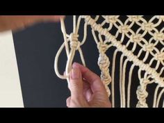How to do macrame knots - ALTERNATING VERTICAL LARKS HEAD - YouTube
