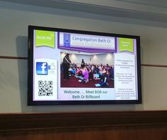 NoviSign's digital signage customer case study of Beth Or - community, religious and congregation center in the U.S.A.