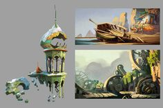 Concept Art for Rayman Origins  by Floony  http://floony.blogspot.com/