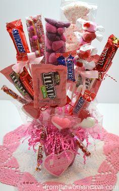Ideas para celebrar el día del amor, Valentine's Day candy bouquet