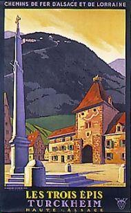C. Gadoud: Les Trois Epis, Turckheim, French travel poster, 1930