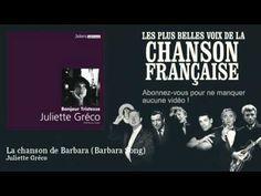 Juliette Gréco - La chanson de Barbara - Barbara Song -  Chanson française