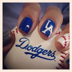 It's time for Dodger baseball!        Nails done for Opening Day! Love my boyz in blue! (4-4-14)