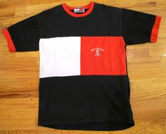90s Tommy Hilfiger Color Block T Shirt by kokorokoko on Etsy, $26.00