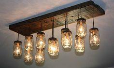 34 FABULOUS MASON JAR LIGHTS | Interior Design Inspirations for Small Houses