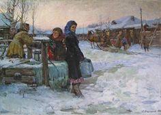 Ладейщиков Виктор Леонидович (Россия, 1928-1987) «Приехал» 1956