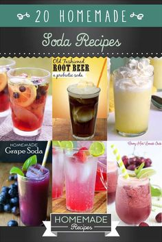 drinks Beat the heat the easy way with these 20 delicious homemade soda recipes. Pop never tasted so good with these healthy, easy to make homemade soda recipes. Non Alcoholic Drinks, Fun Drinks, Yummy Drinks, Healthy Drinks, Cocktails, Beverages, Nutrition Drinks, Juice Drinks, Mixed Drinks
