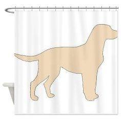 labrador retriever yellow silhouette Shower Curtai > YELLOW LAB > Paw Prints