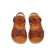 Sandales Cuir Sonny Marron  Young Soles