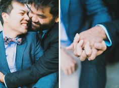 Well-Groomed Engagement: Around Chinatown #groom #gay wedding