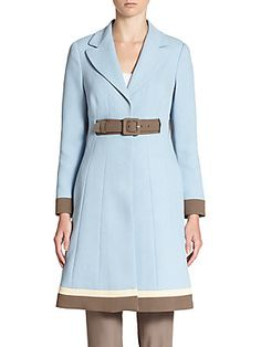 Moschino Colorblock Belted Coat