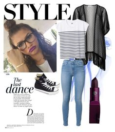 """""""A Zendaya inspired set"""" by minniieminii on Polyvore featuring MAC Cosmetics, Anja, Maxima, 7 For All Mankind, Lipstick Queen and Converse"""