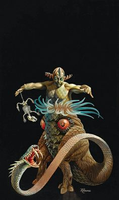 Rowena Morrill - The Dunwich Horror, 1978 by myriac, via Flickr | Click through for a larger image