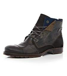 ed594ca0257e3 Brown distressed biker boots £65.00 Outfit Grid, Biker Boots, Brogues,  Casual Shoes