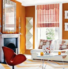 To get this look, use YOLO Colorhouse CREATE .03  Love the roman blind color contrast!