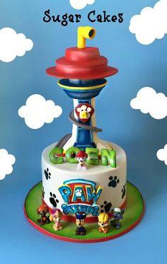 4th Birthday, Birthday Ideas, Dog Cakes, Sugar Cake, Paw Patrol, Spiderman, Pastel, Desserts, Food
